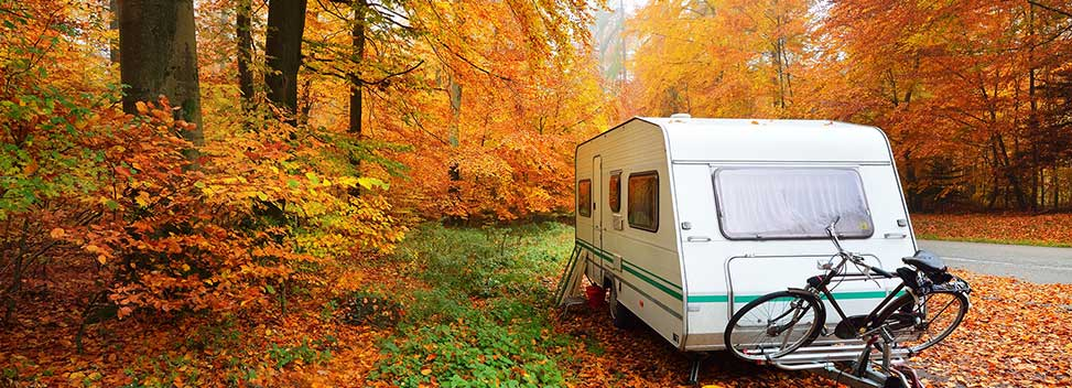Caravan in Autumn