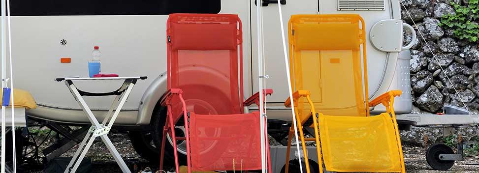 chairs by caravan
